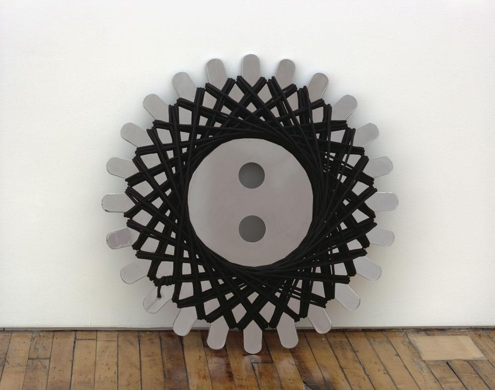 Alexandra Bircken, 8-9, 2011, Chrome plated steel and polypropylene rope, 80 x 31.5 cm
