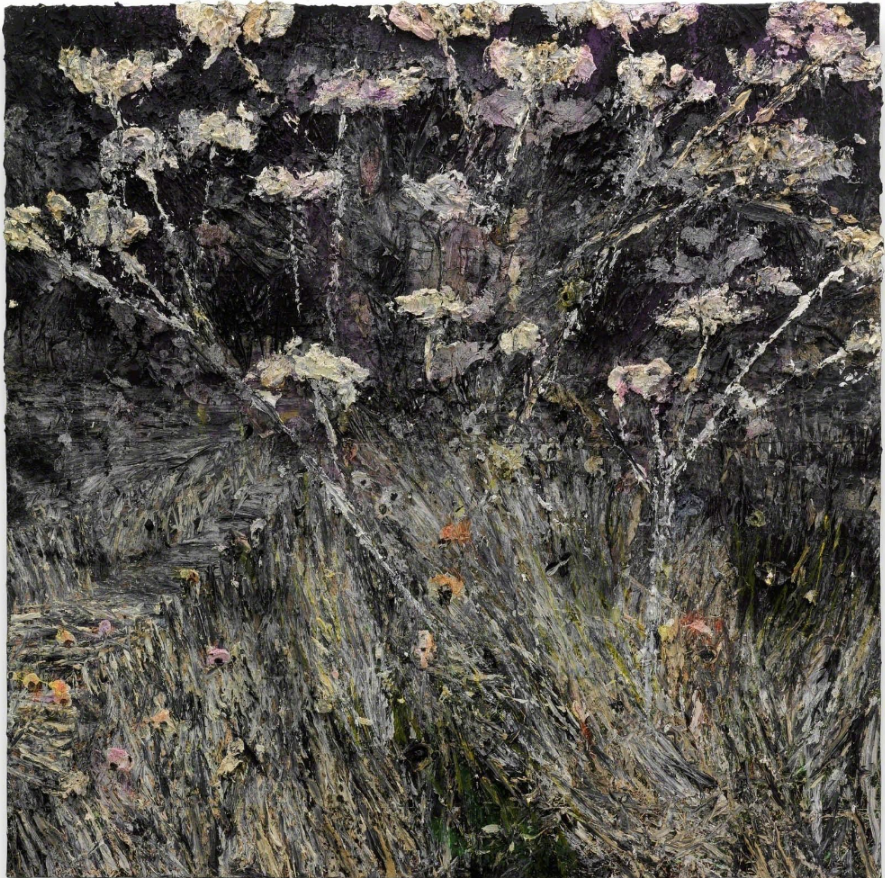 Anselm Kiefer, Morgenthau Plan, 2012, acrylic, emulsion, oil and shellac on photograph mounted on canvas, 380 x 380 cm
