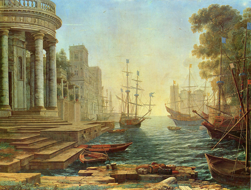 Bence Hajdu, Claude Lorrain, Seaport with the embarkation of St. Ursula, 1641, From series Abandonned Paintings, 2012