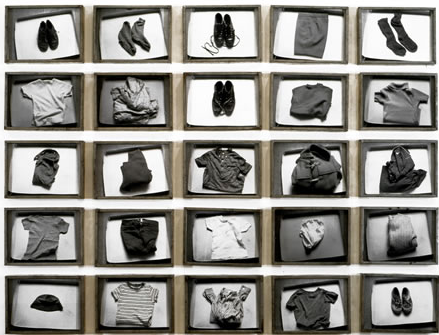 Christian Boltanski, The Habits of François C, set of 25 black and white photographs, each 24 x 30 cm. Copyright ADAGP