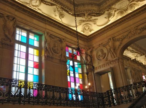 Daniel Buren, Colored windows of the Hôtel Salé, Paris