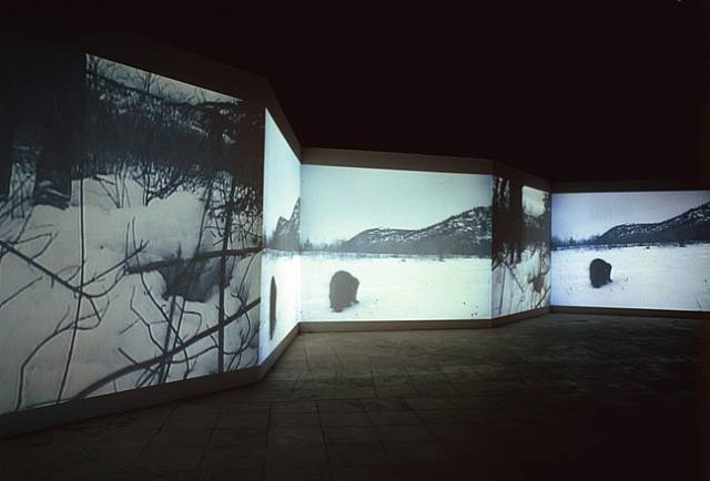 From Here to There, 2003. Installation, 6 DVD