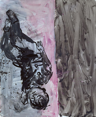 Georg Baselitz, Boy II, April 3 to 6, 1998