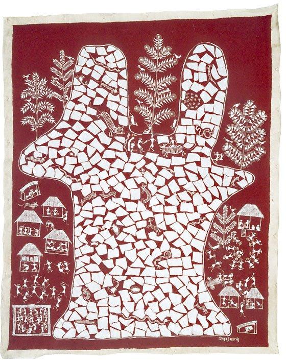 Jivya Soma Mashe, Untitled, 1997, acrylic on canvas, 115x146 cm