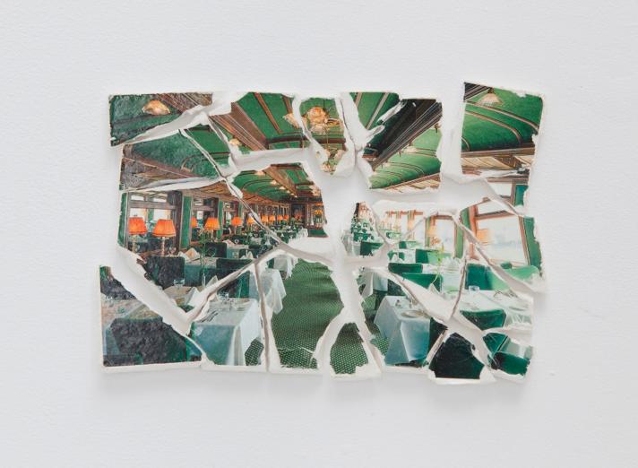 Katrín Sigurdardóttir, 13 pieces, 2011, Plaster, paper, acrylic medium