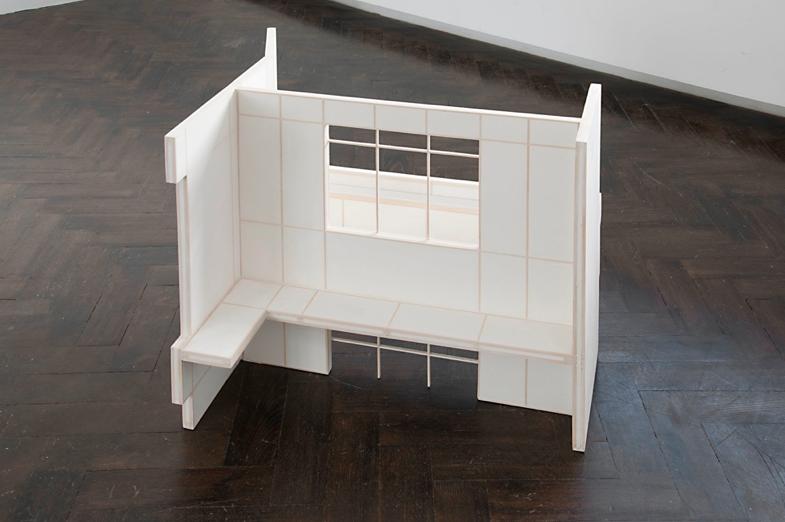 Katrín Sigurdardóttir, Front Steps, Balcony, Stairway, hallway, bedroom, study, 2011, Basswood, hydrocal, Dimensions variable