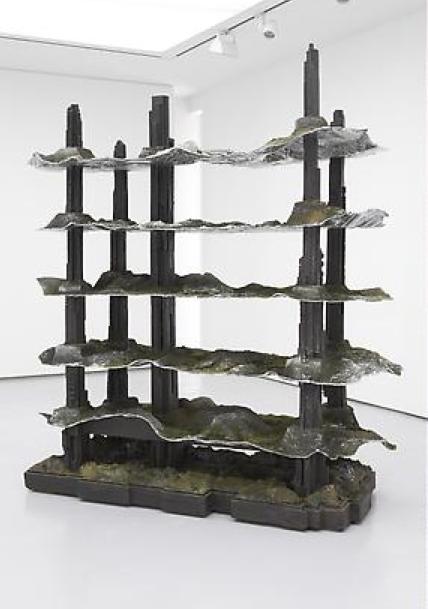Katrín Sigurdardóttir, Megastructure, 2008, Resin, steel, styrofoam, metal foil, pigments, 231.1 x 205.7 x 88.9 cm