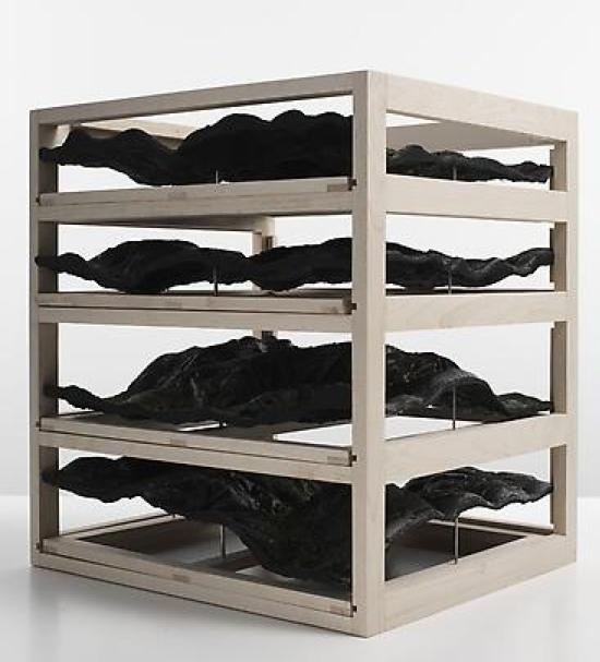 Katrín Sigurdardóttir, Untitled (drawer unit), 2009, Beechwood, resin, pigments, 48.3 x 76.2 x 86.4 cm (variable)