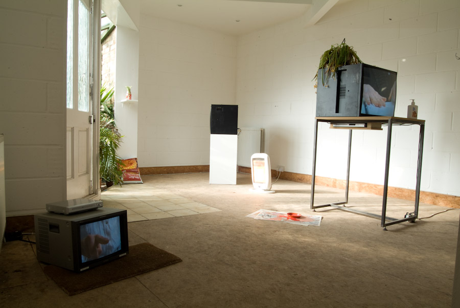 Laure Prouvost, All these things think link - Flattime House, 2010, Installation View