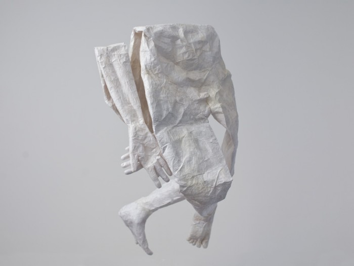 Mathilde Roussel, Mue 2011, 2011, paper, glue, 40x27 in