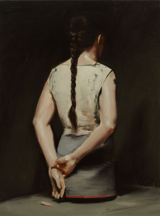 Michaël Borremans, Automat (I), 2008, oil on canvas