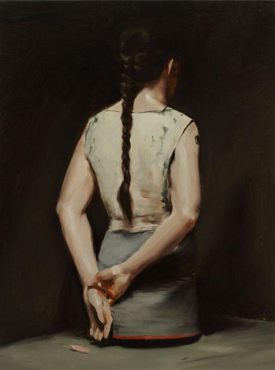 Michaël Borremans, Automat (I), 2008, oil on canvas