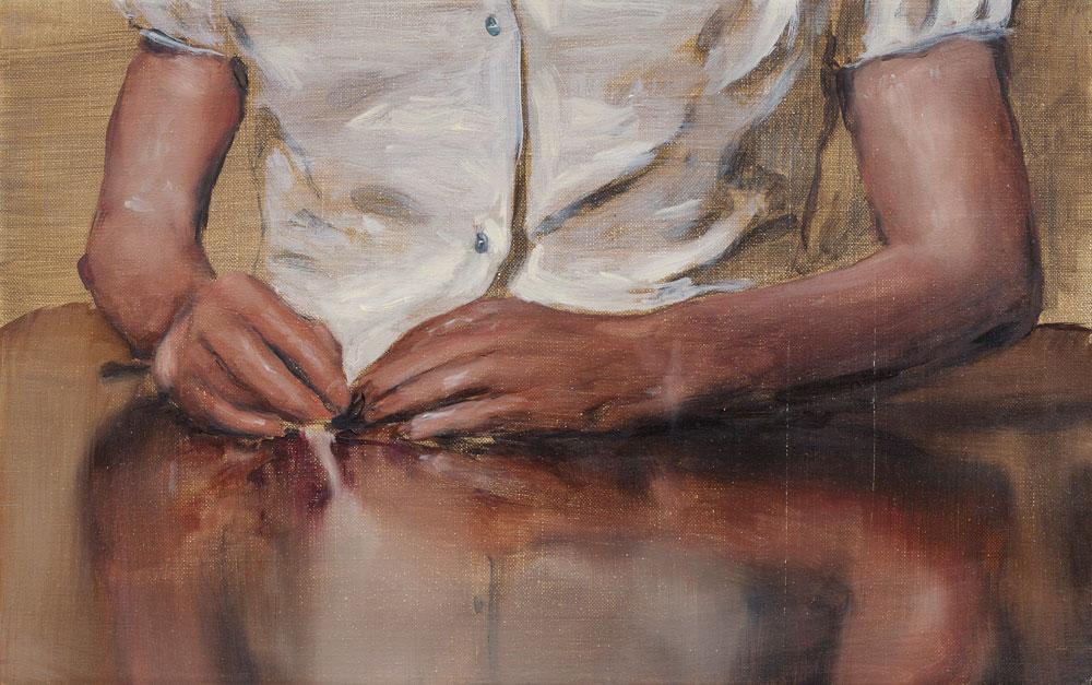 Michaël Borremans, Blue, 2005, oil on canvas