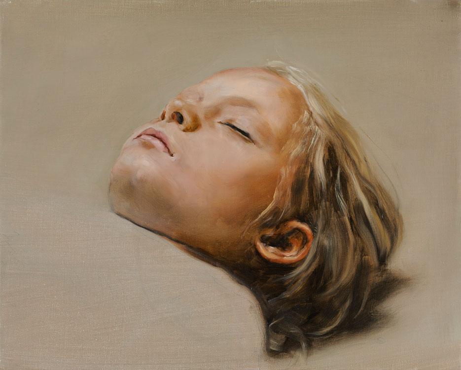 Michaël Borremans, Sleeper, 2008, oil on canvas
