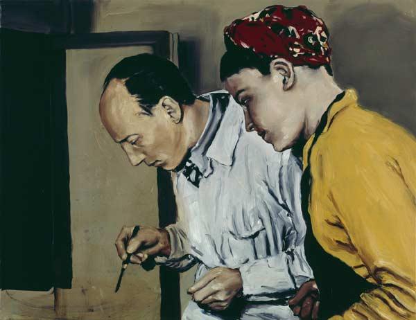 Michaël Borremans, The Examination, 2001, oil on canvas