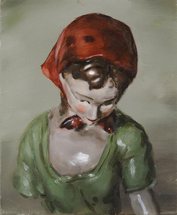 Michaël Borremans, The Gift, 2008, oil on canvas