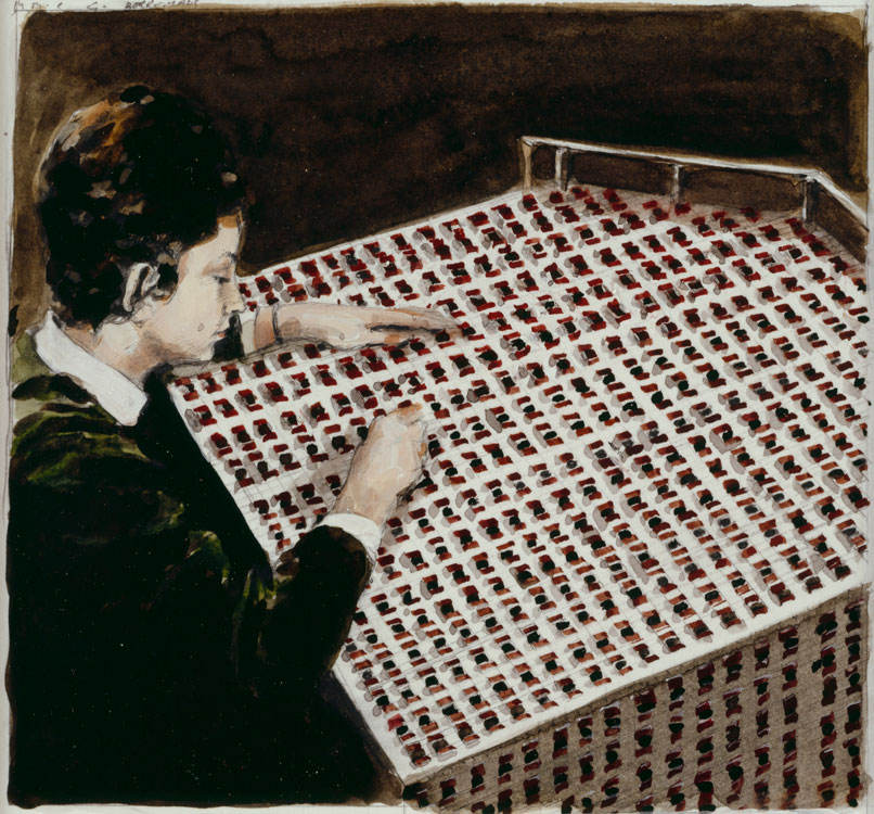Michaël Borremans, The House of Opportunity - Voodoo!, 2005, pencil and watercolor on cardboard