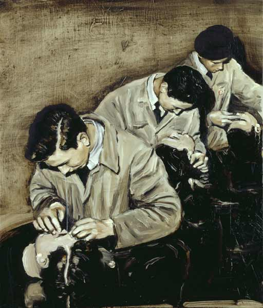 Michaël Borremans, The Pupils, 2001, oil on canvas