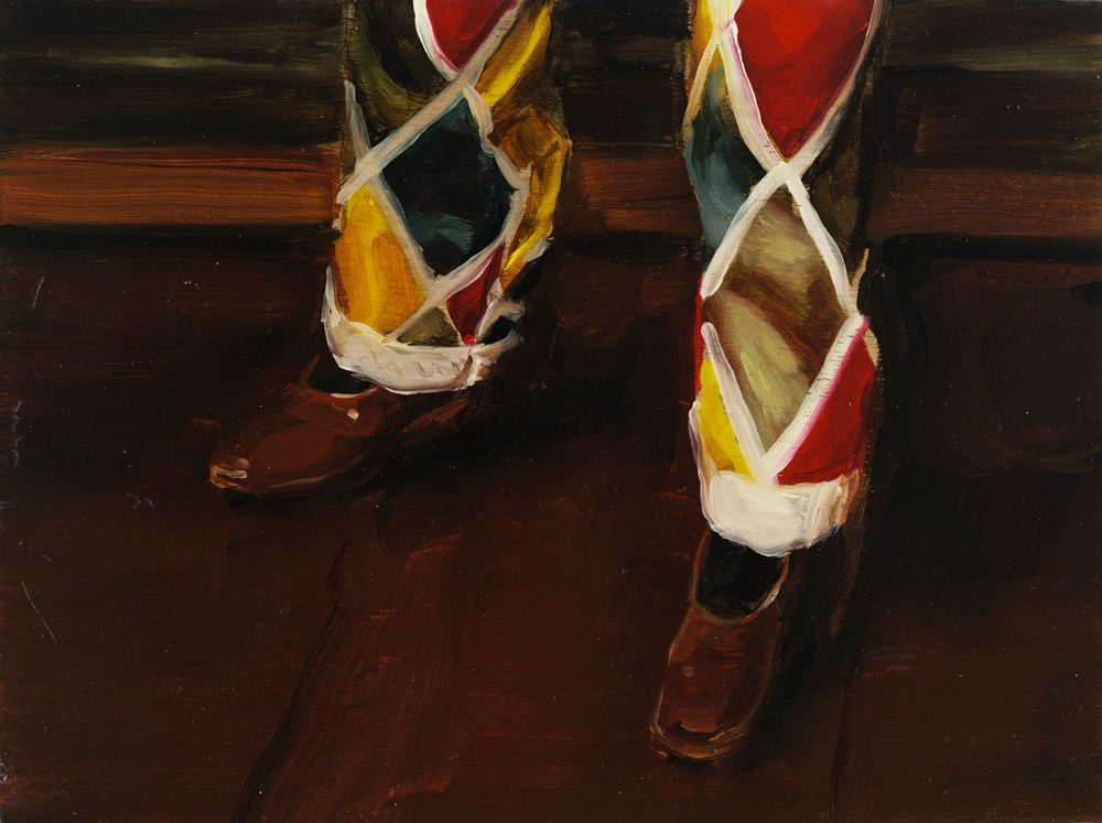 Michaël Borremans, The Same Fool, 2007, oil on wood