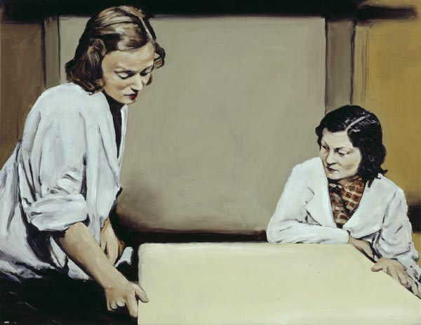 Michaël Borremans, The Table, 2001, oil on canvas