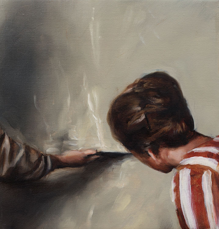 Michaël Borremans, Thunder, 2006, oil on canvas.