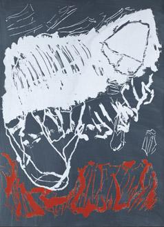 Per Kirkeby, Hansentryk, 2009, silkscreen 140 x 100 cm