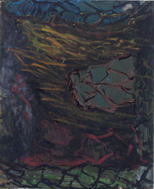 Per Kirkeby, Tropisme 8, 2004, oil on canvas, 115 cm x 95 cm