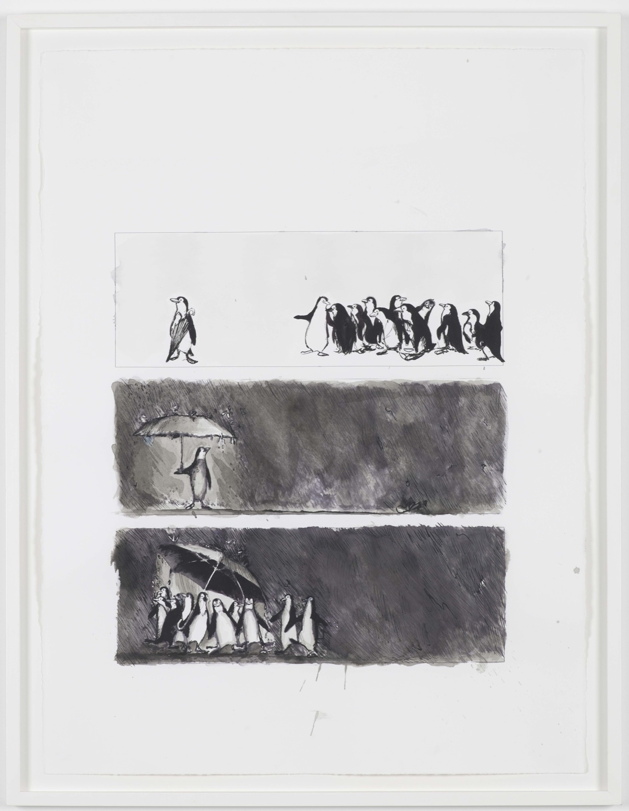 Philippe Parreno, Sono Uguali e Sono Divers, 2009, ink on paper, 76 x 57 cm