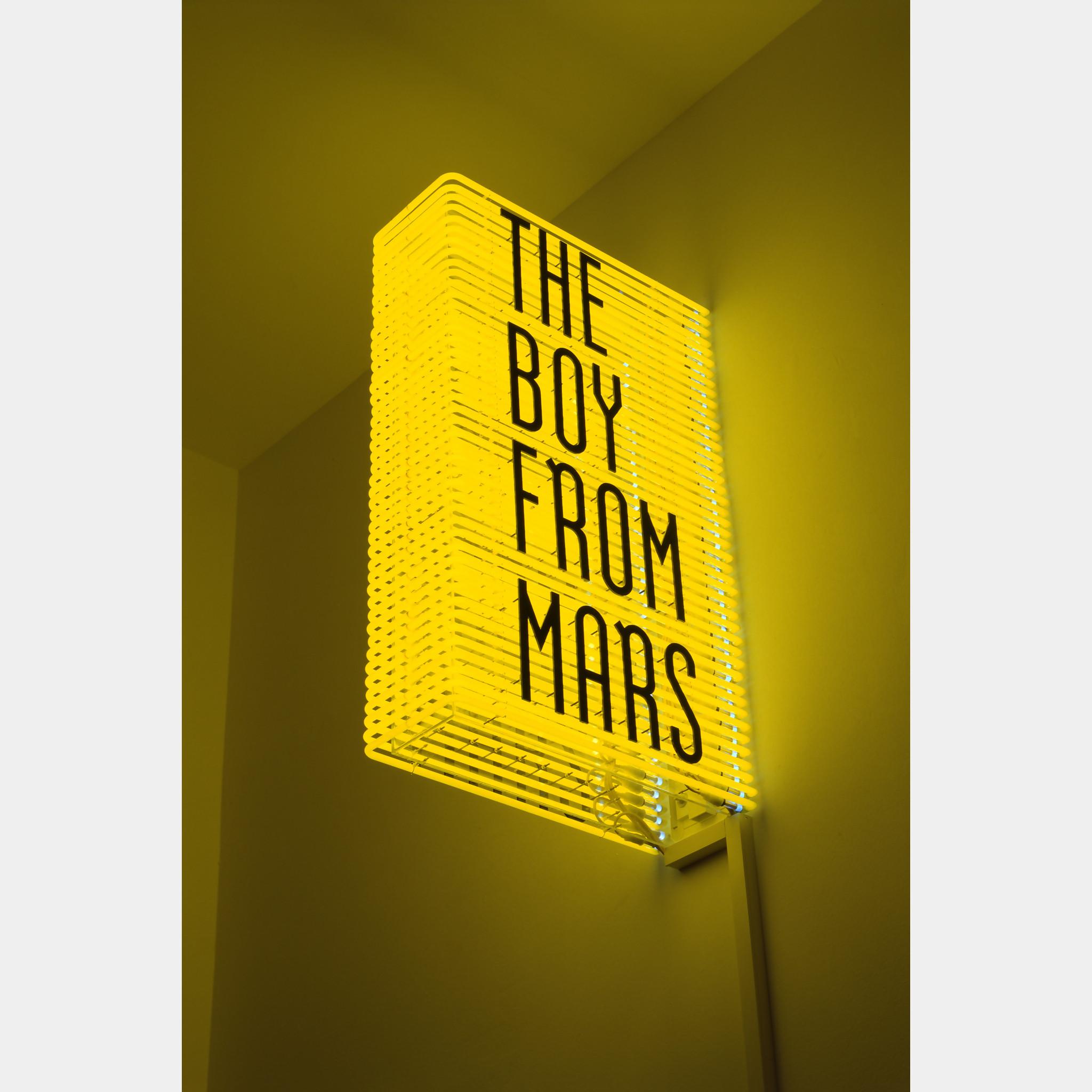 Philippe Parreno, The Boy From Mars, 2005, 44 neon tubes, metal, transparent plexiglass, 5 transformators, cables, 148 x 90.2 x 41.9 cm