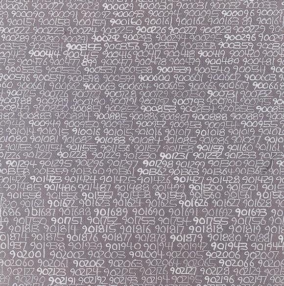 Roman Opalka, Infinity (detail), 1965, Caldic Collection, Rotterdam