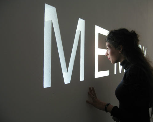 Shilpa Gupta, Memory, 2007, Architectural installation, MAC-VAL Paris