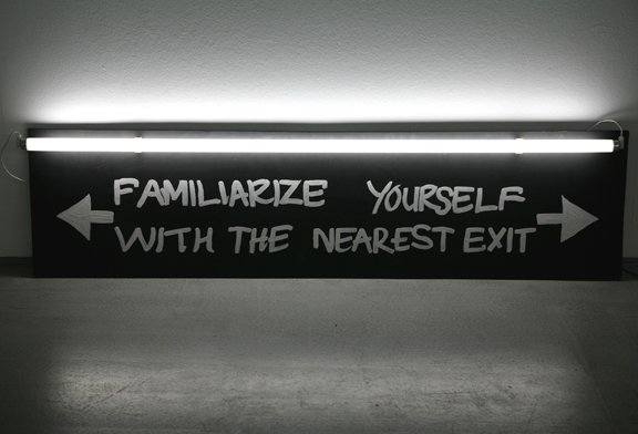 Shilpa Gupta, Nearest Exit, 2009