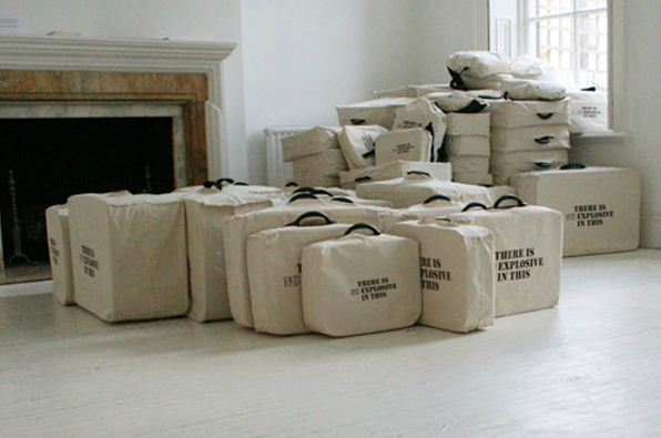 Shilpa Gupta, There Is No Explosive in This, 2007, interactive installation and photos