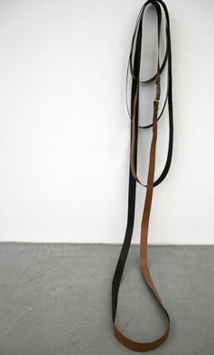 Shilpa Gupta, Untitled, 2009, 10 meters security belt