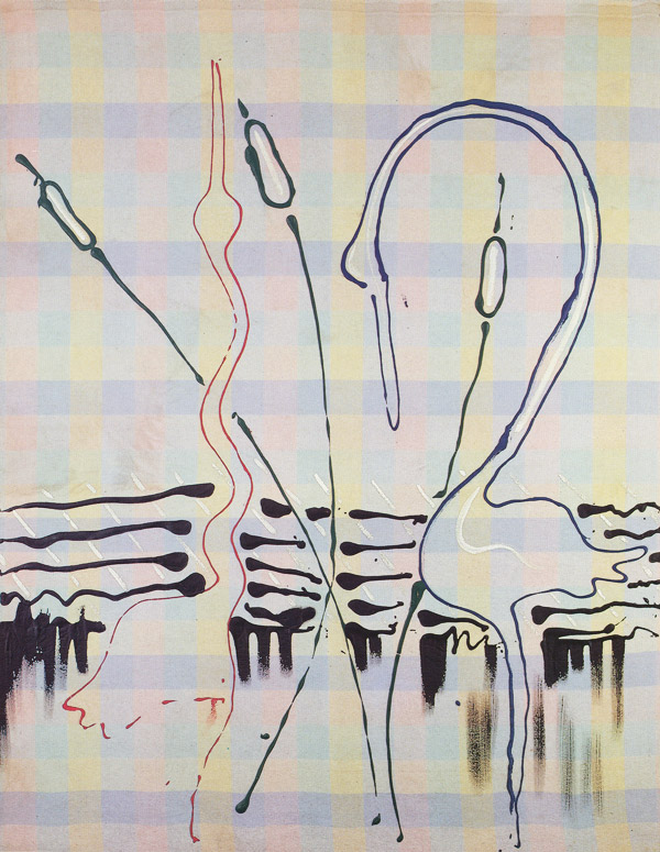 Sigmar Polke, Heron II, 1968, Dispersion on flannel, 190 x 150 cm