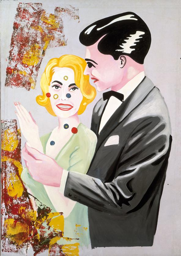 Sigmar Polke, Lovers II, 1965, Oil and enamel on canvas, 190 x 140 cm
