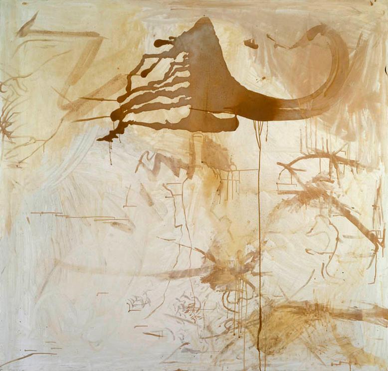 Sigmar Polke, Untitled, 1990, Silver nitrate, silver bromide, silver sulfate, dammar varnish on linen, 200 x 190 cm