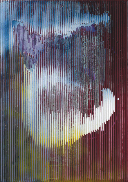 Sigmar Polke, Untitled (Lens Painting), 2008, mixed media on fabric, 100 x 70 cm