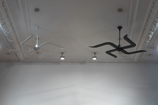 Subodh Gupta, Black and White, 2009, metal, polystyrene, Diameter,