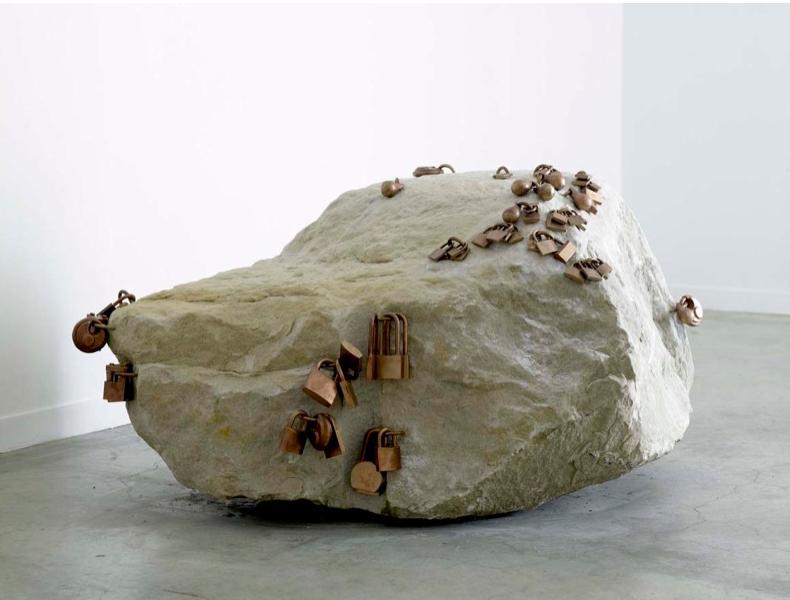 Tatiana Trouvé, Rock, 2007, Fontainebleau stone, bronze,