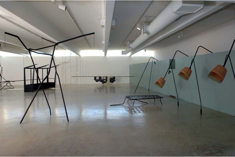 Tatiana Trouvé, View of the exhibition Time Snares, 2007, Galerie Emmanuel Perrotin, Miami