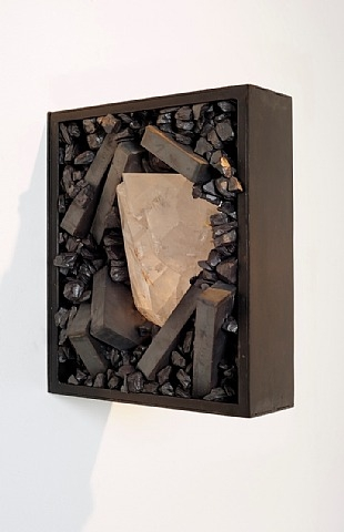Tunga, Untitled, 2008-2010, sculpture, iron anisotropic ferrite, quartz crystal