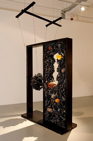 Tunga, Untitled, 2008-2010, steel, iron, glass, epoxy resin, silicon quartz crystal, anisotropic ferrite