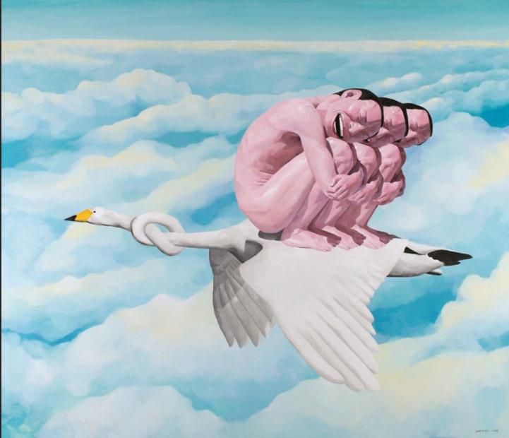 Yue Minjun, Eternal Goose, 1998