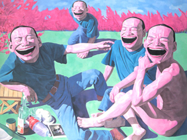Yue Minjun, The Luncheon on the Grass, 1995