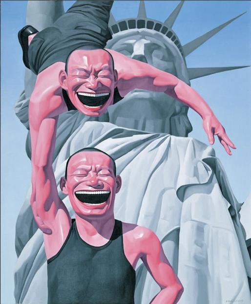Yue Minjun, The Statue of Liberty, 2005