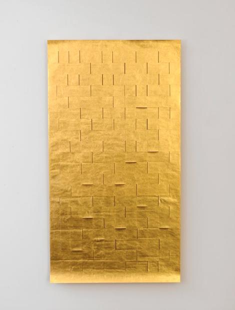 Zarina Hashmi, Blinding Light, Okawara cut paper, covered in 22 carat gold leaf, 185.4 x 100.3 cm