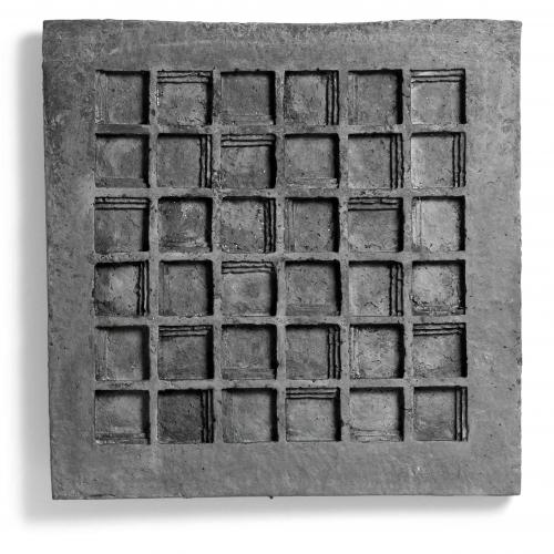 Zarina Hashmi, Steps, paper casting, 55.99 x 55.9 x .8 cm