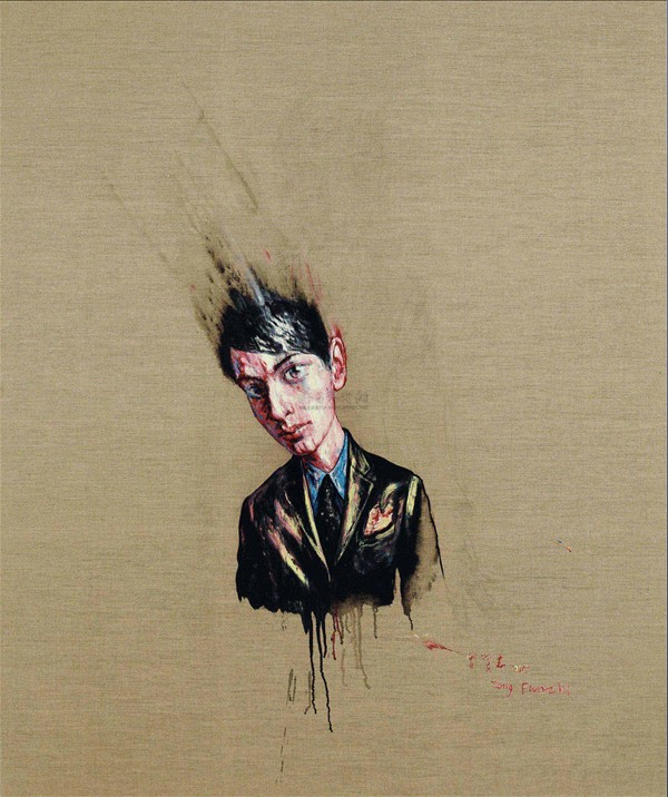 Zeng Fanzhi, Portrait 07-8-4, 2007, Oil on canvas, 189,6 x 159,7 cm