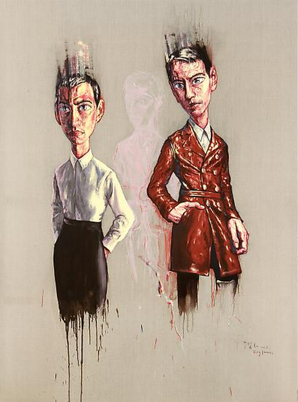 Zeng Fanzhi, Portrait 08-7-1, 2008, Oil on canvas, 250 x 170 cm